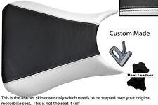 WHITE & BLACK CUSTOM 98-03 FITS KAWASAKI NINJA ZX6R 636 A1P LEATHER SEAT COVER