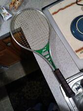 "Vtg Prince Classic Aluminum Tennis Racquet 4 3/8"" Leather Grip 110 Green"