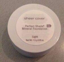 Sheer Cover LIGHT Perfect Shade Match Mineral Foundation 1.5g  NEW  SEALED