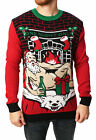 Ugly Christmas Sweater Men's One Night Only LED Light Up Sweater