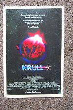 Krull Movie poster Lobby #1 Ken Mashall