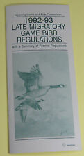 1992 Wyoming Game Bird Hunting License Regulations Book...Free Shipping!