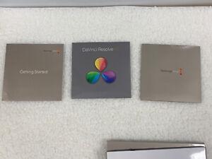 Blackmagic Design + Davinci Resolve 10 Software And Manual.  2 Discs #11.01