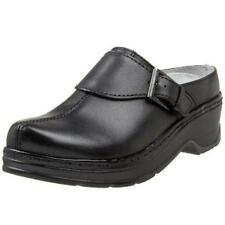 Klogs Austin Women's Leather Comfort Clogs Black Smooth - 9 Wide