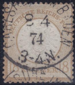 Deutsches Reich 28 O 18 kr. großer Schild, gepr. Fotoattest Jäschke L. BPP