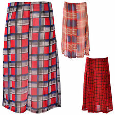 Full Length Polyester Patternless Unbranded Skirts for Women