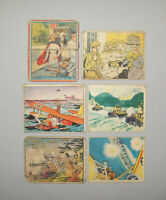 Old Vtg 1940s Lot of 6 Gum Cards Action Horrors of War Uncle Sam First Column De