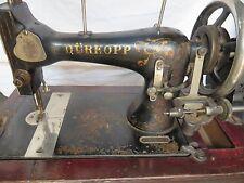 Vintage Durkopp sewing machine Schutz Marke trademark domestic treadle German