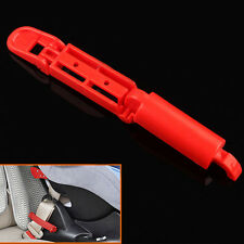 Red Safety Gear Car Seat Belt Clip Locking Fixed Skid For Baby Child Kids Toddle