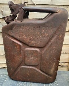 Original WW2 German Army Jerry Can - 1944 Dated - Remanence of Camo Paint