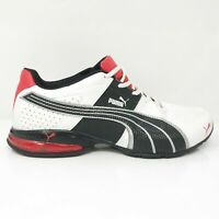Puma Mens Cell Surin 2 186452-01 White Red Running Shoes Lace Up Low Top 11