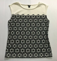 Ann Taylor Floral Lace Pattern Sleeveless Top Career Blouse Small Petite SP