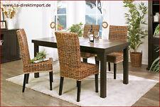 NEU: Mediterrane Stühle mit Rattangeflecht, Rattanstühle, Esszimmerstühle, braun