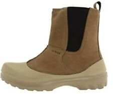 Crocs Men Greeley Lined Boot Khaki Men Size 8  NWT  (Found in mislabeled box!)