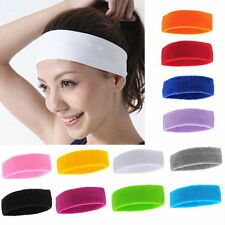 Fashion Women Men Sport Sweat Sweatband Headband Hair Band Yoga Gym Stretch