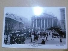 1907 Used REAL PHOTO POSTCARD- THE ROYAL EXCHANGE, LONDON + STAMP