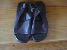 Women's Easy Spirit True Spirit Dark Brown Leather Sling Back Sandals Size 9M