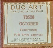 OCTOBER TCHAIKOVSKY DUO-ART RECUT REPRODUCING PIANO ROLL