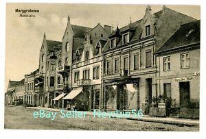 Olecko Poland -MARKTSEITE- c1915 Postcard Marggrabowa Prussia Germany