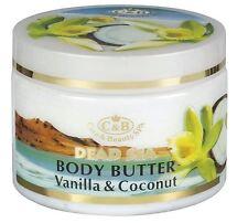 Dead Sea,C&B, Care & Beauty, Body Butter Vanilla Coconut, Vol.10.2fl.oz/300ml