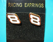 DALE EARNHARDT JR. #8  (POST) - earrings , ear rings, GIFT BOXED