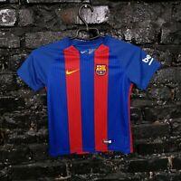 Barcelona Barca Jersey Home shirt 2016 - 2017 Nike 776733-481 Size 6-7 YRS