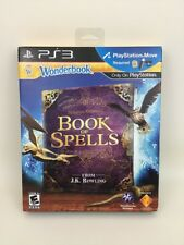 Book of Spells Harry Potter Playstation 3 PS3 Game Wonderbook Sony 2012 Mint