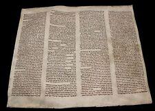 "Original BIBLE MANUSCRIPT VELLUM  LEAF ""Noah & The Flood""  450-600 YR EUROPE"