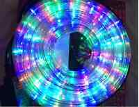 CHRISTMAS XMAS LED MULTICOLOUR ROPE LIGHT FUNCTION CHASING OUTDOOR GARDEN LIGHTS