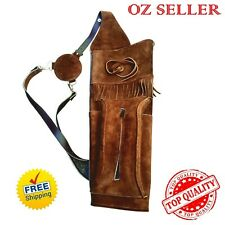 Traditional Archery Suede Leather Field Archer's Choice Back Arrow Quiver