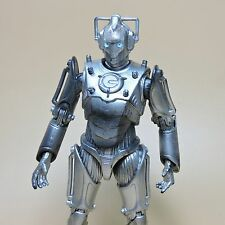"Doctor Who Cyberman Cybermen Cybus action figure 5.5"" old lost a little color"