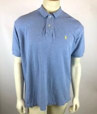 Polo Ralph Lauren Mens Size XL Baby Blue Short Sleeve Polo Shirt