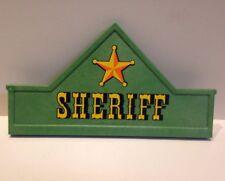 Playmobil Western Sheriff Shield Shield Roof Facade 3786 Farm House