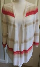 Women's WHBM Open CARDIGAN White House Black Market SWEATER Size XL Pink Gold