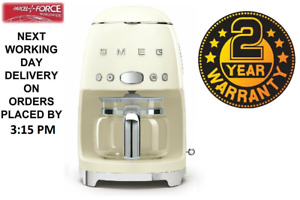 Smeg DCF02CRUK Cream 50s Retro Style Filter Coffee Machine + 2 Year Warranty
