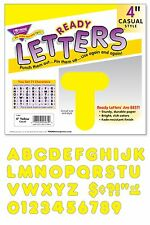 Yellow 4-Inch Casual Style Uppercase Ready Display Letters - Classroom Displays