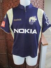 Reebok Kolkata Knight Riders Cricket Jersey #12 Khan Nokia Sprite GOA IPL Size M