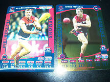 Brent Maloney Melbourne Demons 3D & Gold 2012 AFL Footy Cards (2 Cards)