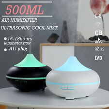 GX.Diffuser Oil Diffuser Ultrasonic Air Aroma Aromatherapy LED Humidifier 500ML