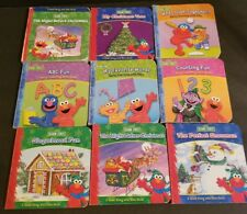 LOT OF 9 SESAME STREET READ ALONG mini board nursery rhymes NICE Cond.