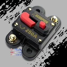 250 Amp Car Stereo Inline Power Circuit Breaker Replaces Fuse Holder 250A 12Volt
