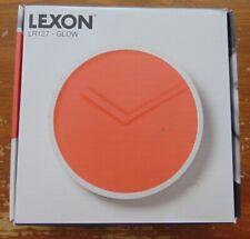 Lexon Glow wandklok clock Kunststof plastic Ø24 cm  orange red  NEW IN BOX