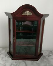 Wall Mounted Glass Storage Display Curios Collectables Cabinet