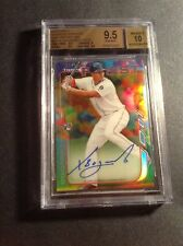 2014 Xander Bogaerts Topps Finest Refractor Auto Autograph #'d */50 - BGS 9.5/10