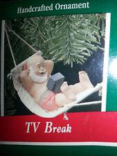 HALLMARK Keepsake 1989 TV BREAK Hammock Santa CHRISTMAS ORNAMENT Vintage NEW