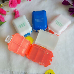 LN_ IC- Travel 2Pcs Portable Medicine Box Small Item Grid Dust-Proof Container