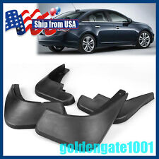 US Black Mud Flaps Splash Guards Fender Front+Rear For Chevy Cruze 2010-2016 GG