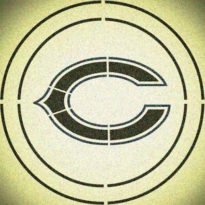 DOUBLE CIRLCE CHICAGO BEARS STENCIL SPORT FOOTBALL STENCILS