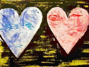 """Jim Dine       """"Two Hearts at Sunset""""       Lithograph         BA  MAKE OFFER"""