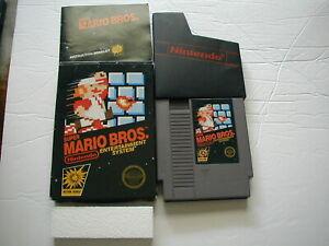 Super Mario Bros. (Nintendo NES) 100% CIB COMPLETE IN BOX BLACK LABEL 5 SCREW